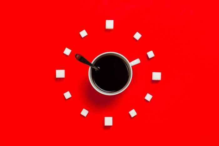 white mug on red background