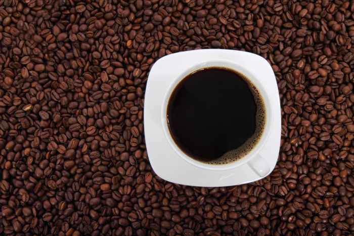 black coffee in white ceramic cup